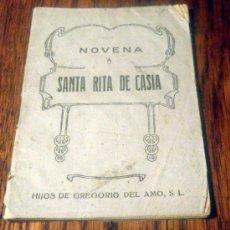 Libros antiguos: NOVENA SANTA RITA DE CASIA. Lote 34300145