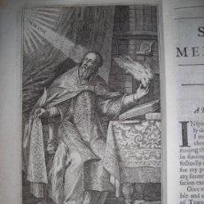 Libros antiguos: MEDITATIONS OF ST. AGUSTINE....,J-E., GROSEZ, 1728. CONTIENE 4 GRABADOS. Lote 34368696
