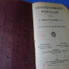 Libros antiguos: DEVOCIONARIO POPULAR ( 1933 ). Lote 34693130