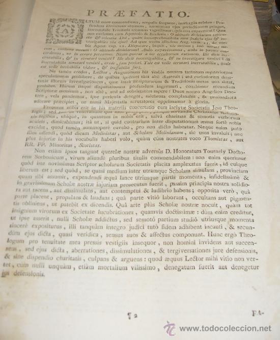 Libros antiguos: SUMMA S.THOME, CURSUS THEOLOGIAE, 3 TOMOS, EDITIO PRIMA MATRITENSIS ANNO 1790,TYPIS VIDUAE ESCRIBANO - Foto 3 - 35078809