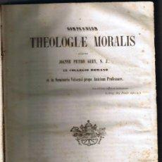 Libros antiguos: COMPENDIUM THEOLOGIAE MORALIS - JOANNE PETRO GURY - 1852 - BIBLIOPOLA HISTORICA J SUBIRANA. Lote 35323051