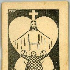 Libros antiguos: CATECISMO DE LA DOCTRINA CRISTIANA PARA LA DIOCESIS DE VITORIA AÑOS 30 PORTADA DE JON ZABALO TXIKI. Lote 35463151