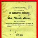 Libros antiguos: FOLLETO, CONSTITUCIONES ECLESIASTICOS SECULARES, S VICENTE FERRER, AGULLENT , ALCOY 1910 ,ORIGINAL. Lote 35734844