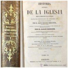 Alte Bücher - HISTORIA GENERAL DE LA IGLESIA. 1856. TOMO IX. 964 PÁG. - 35783841