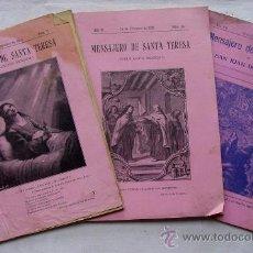 Libros antiguos: 3 EJEMPLARES DE EL MENSAJERO DE SANTA TERESA. AÑOS 1924 Y 1930. Nº 7, 10 Y 11. Lote 39256310