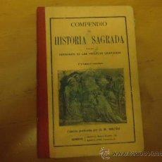 Livres anciens: 1914 COMPENDIO DE HISTORIA SAGRADA, ANTIGUO Y NUEVO TESTAMENTO, PRIMER CURSO, . Lote 36080628
