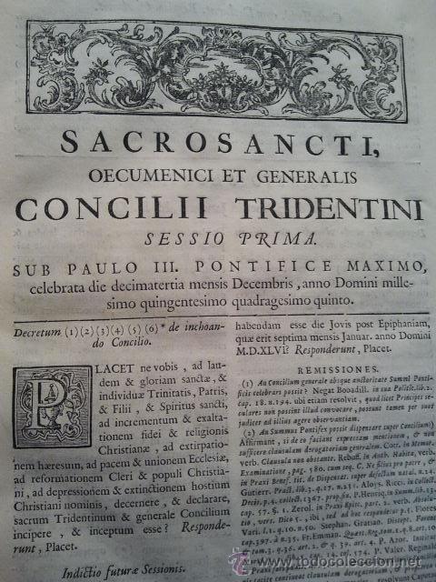 CANONES ET DECRETA SACROSANCTI OECUMENICI ET GENERALIS CONCILI TRIDENTINI. MADRID 1564. 677 PÁGINAS. (Libros Antiguos, Raros y Curiosos - Religión)
