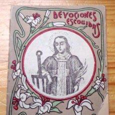 Libros antiguos: DEVOCIONES ESCOGIDAS NOVENA DE SAN LORENZO. CALLEJA. Lote 36677306