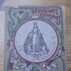 Libros antiguos: DEVOCIONES ESCOGIDAS NOVENA DE NTRA SRA DEL AMOR HERMOSO. CALLEJA. Lote 36694983