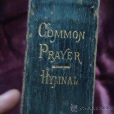 Libros antiguos: COMMON PRAYER. OXFORD 1852 ? PASTAS DE CUERO CANTOS DE ORO. Lote 36732717