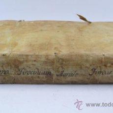 Libros antiguos: TYROCINIUM MORALE PRO SCHOLASTICIS QUI DIARIIS... TOMO 2. ANNO 1728. 21 X 30 CM.. Lote 36983498