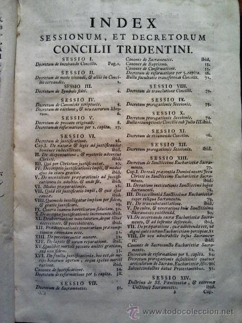 Libros antiguos: Canones et decreta sacrosancti oecumenici et generalis Concili Tridentini. Madrid 1564. 677 páginas. - Foto 3 - 36100930