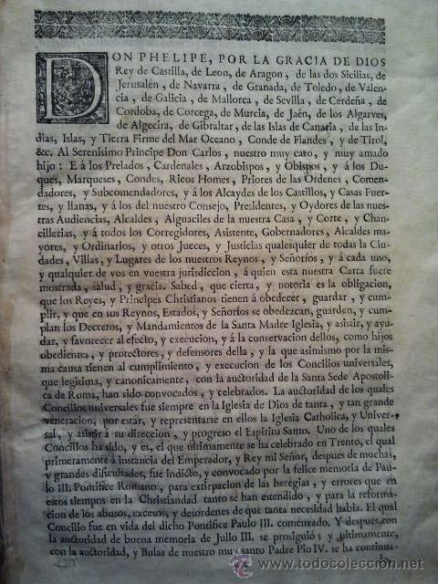 Libros antiguos: Canones et decreta sacrosancti oecumenici et generalis Concili Tridentini. Madrid 1564. 677 páginas. - Foto 5 - 36100930