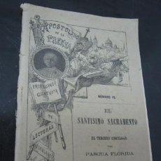 Libros antiguos: EL APOSTOLADO DE LA PRENSA - ABRIL 1895 - PASCUA FLORIDA. Lote 38096273