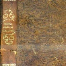 Libros antiguos: VILLODAS : ANÁLISIS DE LAS ANTIGÜEDADES ECLESIÁSTICAS DE ESPAÑA (1865). Lote 38302226