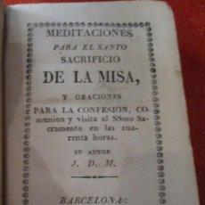 Libros antiguos: LIBRO RELIGIOSO MINIATURA DE 1827, CON GRABADITOS POPULARES MUY BONITOS. ENCUADERNADO EN PIEL. Lote 38349792