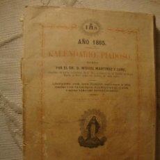 Libros antiguos: ANTIGUO LIBRITO DE RELIGION, CALENDARIO PIADOSO S,XIX 1864. Lote 39134220