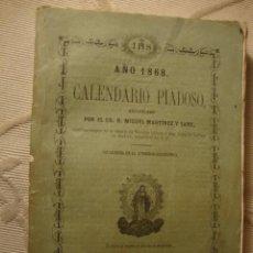 Libros antiguos: ANTIGUO LIBRITO DE RELIGION, CALENDARIO PIADOSO S,XIX 1867. Lote 39134249