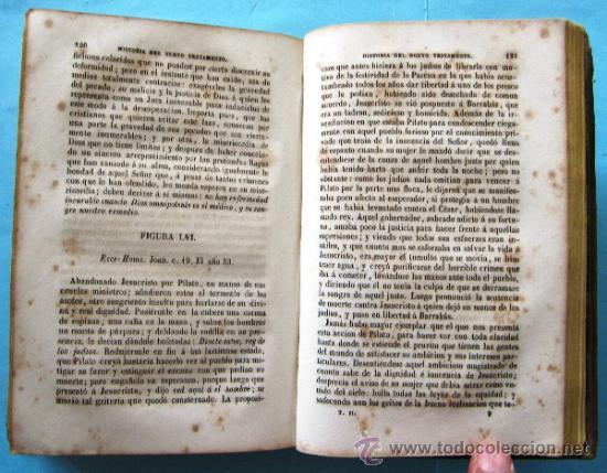 Libros antiguos: LAS FIGURAS DE LA BIBLIA O HISTORIA DE VIEJO O NUEVO TESTAMENTO. 2 TOMOS. IMPRENTA DE PONS, 1852. - Foto 4 - 39295902
