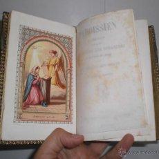 Libros antiguos: ANTIGUO MISAL. 1876. CON GRABADOS ILUMINADOS. ENCUADERNADO EN PIEL.. Lote 39879080