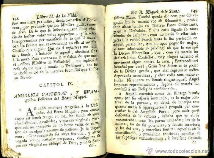 Libros antiguos: VIDA DEL BEATO MIQUEL DELS SANTS (VICH, 1780) PERGAMINO - Foto 2 - 39936582