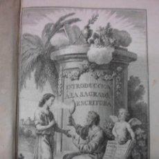 Libros antiguos: INTRODUCCION A LA SAGRADA ESCRITURA,1795, BERNARDO LAMY. CONTIENE 1 FRONTISPICIO Y 9 DESPLEGABLES. Lote 39950917