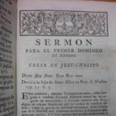 Libros antiguos: LA VOZ DEL PASTOR, 1773, ANTONIO DE SACHA. Lote 40046490