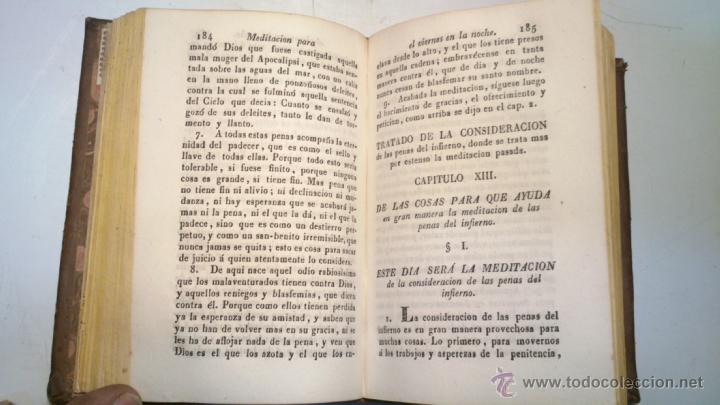 Libros antiguos: ORACION Y MEDITACION DEL VENERABLE PADRE MAESTRO FRAY LUIS DE GRANADA. FINALES S.XVIII. VER. - Foto 4 - 40435509