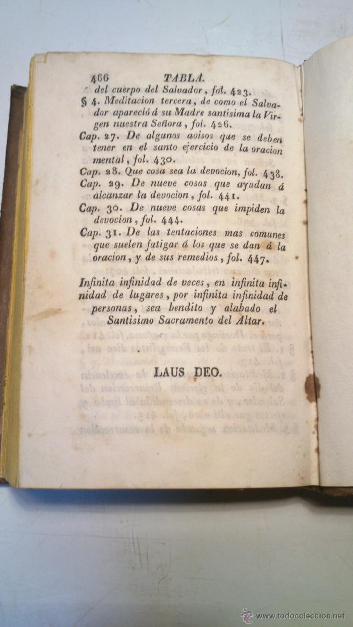 Libros antiguos: ORACION Y MEDITACION DEL VENERABLE PADRE MAESTRO FRAY LUIS DE GRANADA. FINALES S.XVIII. VER. - Foto 5 - 40435509