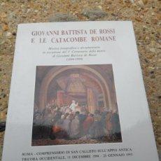 Libros antiguos: LIBRO GIOVANI BATTISTA DE ROSSI . Lote 40795124