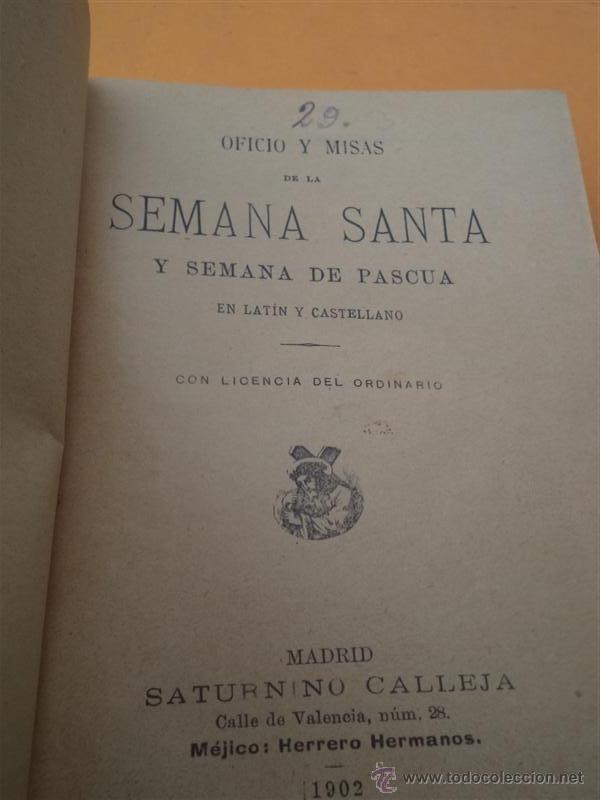 Libros antiguos: semana santa 1902 - Foto 2 - 40918290