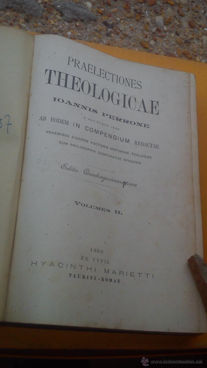 Libros antiguos: predecciones teologica 1896 - Foto 2 - 40931383