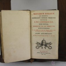 Libros antiguos: 4230- BREVIARIUM ROMANUM EX DECRETO SACROSANCTI CONCILI TRIDENTINI. TIP. REGIAE SOCIETATIS 1827.. Lote 41035893
