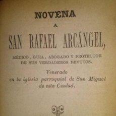 Libros antiguos: NOVENA A SAN RAFAEL ARCANGEL VALENCIA 1875. Lote 41101428