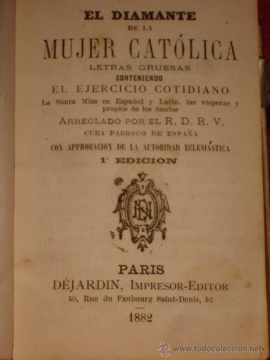 Libros antiguos: DEVOCIONARIO CATOLICO DE 1882 - Foto 3 - 41215546