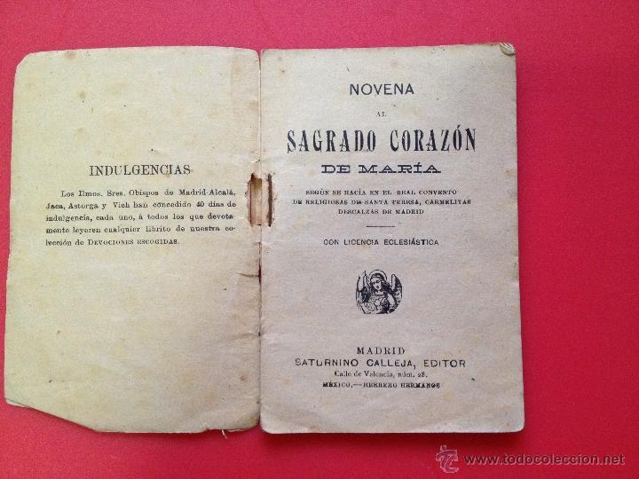 Libros antiguos: NOVENA AL CORAZON DE MARIA S. CALLEJA - Foto 2 - 41313770