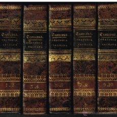 Libros antiguos: BIBLIOTECA COMPLETA DE ORATORIA SAGRADA - JUAN TRONCOSO - 1854 - DIEZ TOMOS EN CINCO LIBROS. Lote 41402488