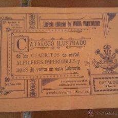 Libros antiguos: CATALOGO ILUSTRADO CUADRITOS DE METAL ALFILERES IMPERDIBLES Y DIJES. Lote 156597252