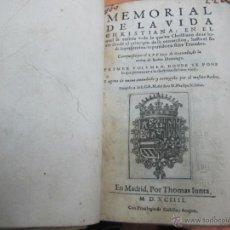 Libros antiguos: MEMORIAL DE LA VIDA CHRISTIANA - FRAY LUIS DE GRANADA - AÑO 1594. Lote 41563863