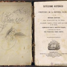 Libros antiguos: CATECISMO HISTÓRICO - COMPENDIO HISTORIA SAGRADA - ABAD DE FLEURY - 1882 - FOTO ADICIONAL. Lote 42119901
