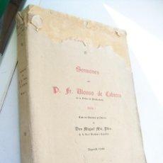 Libros antiguos: SERMONES DEL P. FR. ALONSO DE CABRERA-TOMO I.- 1930-CASA EDT. BAILLY BAILLIERE. Lote 42154640