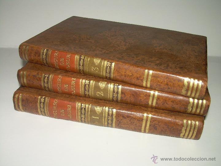 Libros antiguos: DISCURSOS...POR FLEURY......AÑO...1.813...TRES TOMOS DE TAPAS DE PIEL. - Foto 2 - 42227886