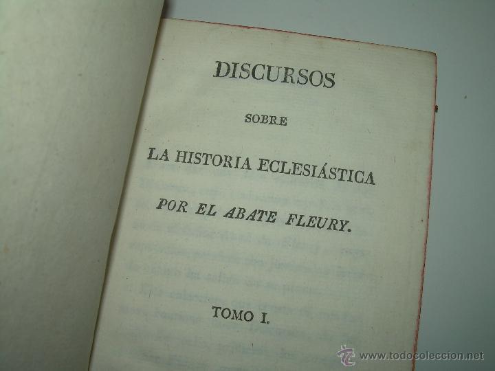 Libros antiguos: DISCURSOS...POR FLEURY......AÑO...1.813...TRES TOMOS DE TAPAS DE PIEL. - Foto 4 - 42227886