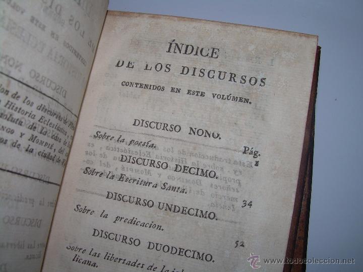 Libros antiguos: DISCURSOS...POR FLEURY......AÑO...1.813...TRES TOMOS DE TAPAS DE PIEL. - Foto 5 - 42227886