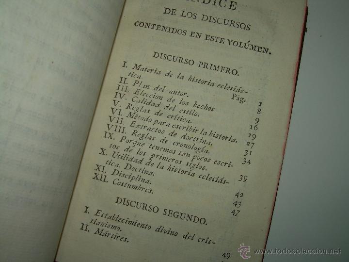 Libros antiguos: DISCURSOS...POR FLEURY......AÑO...1.813...TRES TOMOS DE TAPAS DE PIEL. - Foto 6 - 42227886