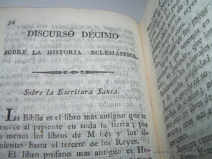 Libros antiguos: DISCURSOS...POR FLEURY......AÑO...1.813...TRES TOMOS DE TAPAS DE PIEL. - Foto 10 - 42227886