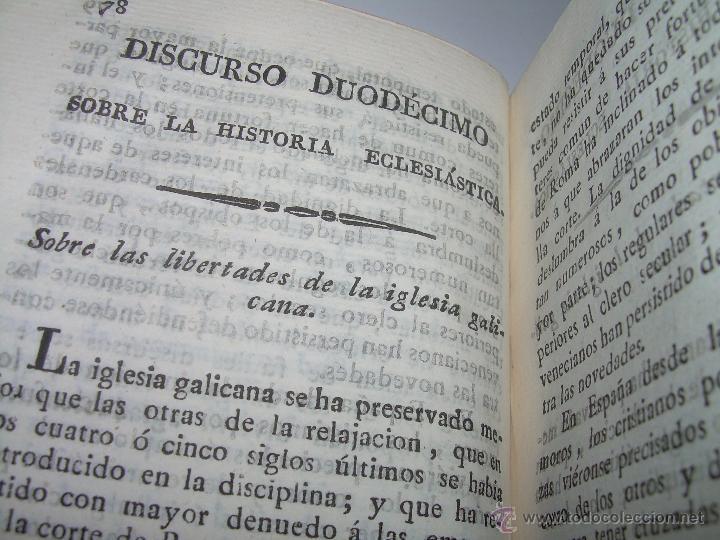 Libros antiguos: DISCURSOS...POR FLEURY......AÑO...1.813...TRES TOMOS DE TAPAS DE PIEL. - Foto 11 - 42227886