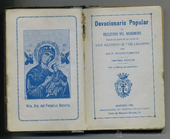 Libros antiguos: DEVOCIONARIO POPULAR 1930, 253 PAGINAS - Foto 1 - 42352570