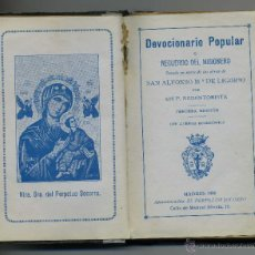 Libros antiguos: DEVOCIONARIO POPULAR 1930, 253 PAGINAS. Lote 42352570
