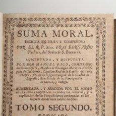 Libros antiguos: PACHECO SUMA MORAL TOMO II AÑO 1743. Lote 42829298